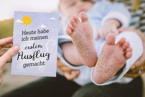 Meilensteinkarten für Babys und die Schwangerschaft